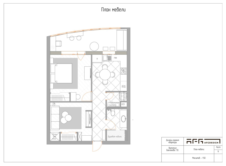 Планировка квартиры в ЖК Академия люкс