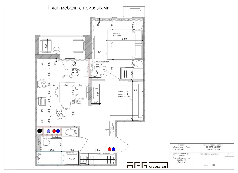 Перепланировка квартиры в ЖК Зеленый бор
