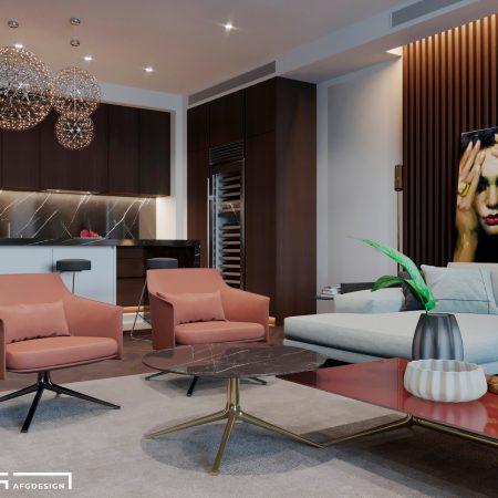 Дизайн интерьера квартир в современном стиле ЖК Эмеральд