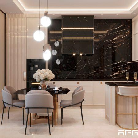 Дизайн интерьера квартиры в ЖК Ривер Парк в современном стиле